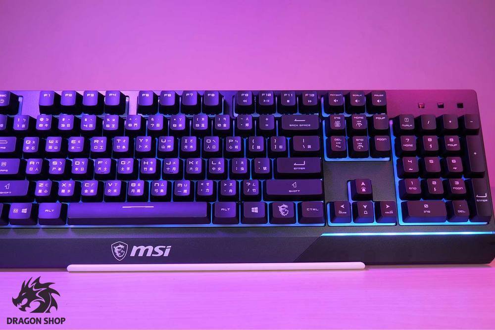 کیبورد و موس گیمینگ ام اس ای Gaming Keyboard MSI GK30