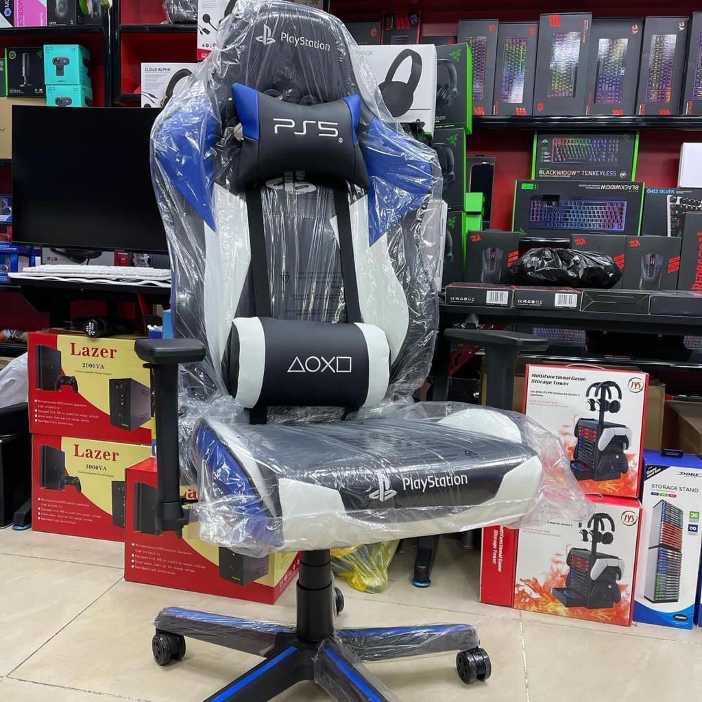 صندلی گیمینگ پلی استیشن آبی مشکی